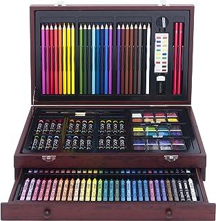 Art 101 USA 绘画艺术盒,木制,142件