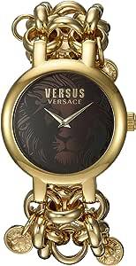 "Versace Versus 女士""Agadir""石英不锈钢休闲手表,颜色:金色调(型号:SGO240016)"