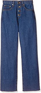 Ragunamon 牛仔裤 纽扣罗纹针织平角牛仔裤 女士 032022400001 蓝色 日本 M (日本サイズM相当)