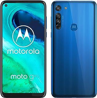 moto g8 Dual-SIM Smartphone (6,4-Zoll-Max Vision-HD+-Display, Dreifach-Kamerasystem, 64 GB/4 GB, Android 10), Blau [Exklus...