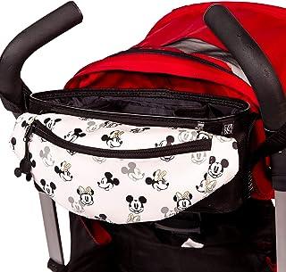 J.L. Childress Disney 迪士尼婴儿通用婴儿车收纳袋,带可拆卸腰包,米奇米妮象牙色