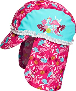 Playshoes 女童防紫外线浴帽,游泳帽火烈鸟帽