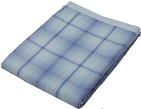 京都西川(kyoto-nishikawa) 毛巾毯·紗布毯 棉* 毛巾被 先染色提花織物 1-GT-3601 藍色 シングル140×190cm 1-GT-3601