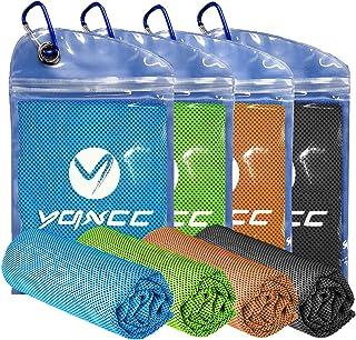 YQXCC 清凉毛巾 4 条装(119.38 厘米 x 30.48 厘米)超细纤维瑜伽毛巾男女皆宜冰凉毛巾,适合瑜伽健身房旅行野营高尔夫球和户外运动