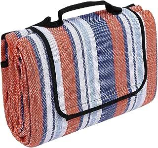 防水快干户外野餐垫,野营徒步便携式沙滩毯(美国库存) 红色 AMA005293