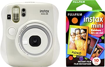 Fujifilm 拍立得 Mini 26 +彩虹相纸(10张)套装 - 白色