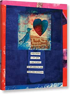 "ArtWall Elana Ray's Bird Heart Love Gallery Wrapped Canvas, 14 x 18"", Multicolor"