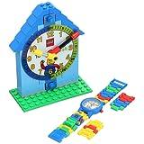 LEGO Time teacher 蓝色套装,包含塑料手表、可拆卸钟表和活动卡片9005008