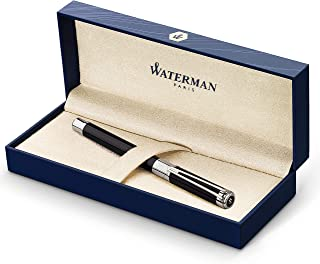 Waterman S0830660 钢笔 Perspective,线条宽度 F,书写颜色蓝色 Lack Schwarz C.C Federstärke F Black Chrome Trim