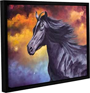 """ArtWall Marina Petro's Black Thunder Gallery-Wrapped Floater-Framed Canvas, 18 by 24"""""""