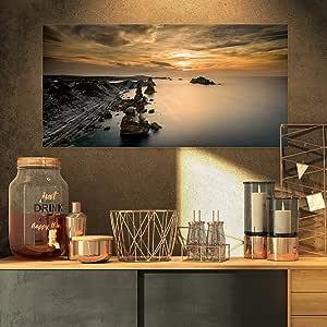 西班牙海岸上的Liencres 岩石风景艺术印刷油画
