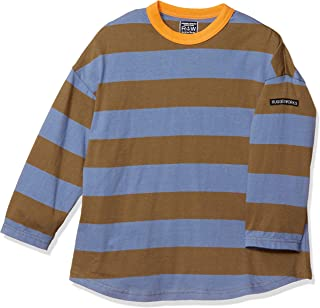 REGED WORKS 男孩粗条纹圆领 平纹长袖T恤 粗条纹系列男童