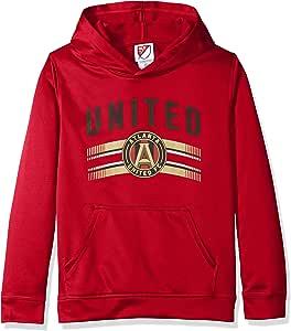 MLS Atlanta United Boys Performance Hoodie, X-Large/Size 18, Victory Red