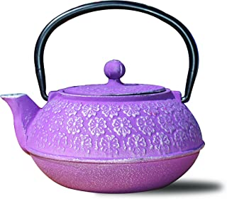 Old Dutch 铸铁 Sapporo 茶壶 紫红色 / 22 盎司/樱花 22盎司 1032PM