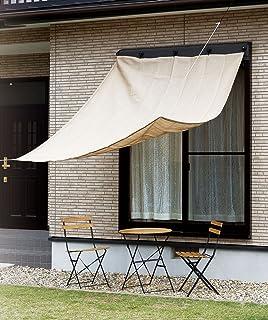 武田公司【节能、眼罩、防晒、阳台、阳台、窗台、軒先】遮阳篷  ベージュ&ブラウン 180×240