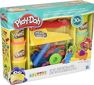 Play-Doh 培乐多玩具 - 趣味工厂豪华玩具套装 - 内含 6 桶培乐多印模膏