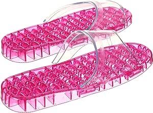 JM 粉色按摩水晶拖鞋(小号号)