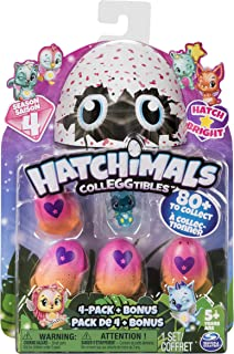 Hatchimals CollEGGtibles 4 包 + Bonus * 4 季拼贴,适合 5 岁及以上儿童(款式和颜色可能有所不同)