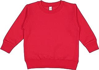 Rabbit Skins Blank Toddler Fleece Sweatshirt [Size 5/6T] Red Long Sleeve Sweatshirt