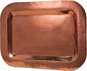Sertodo Thessaly Platter, 27 inch x 19 inch Rectangle, Hammered Copper