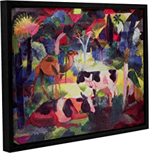 """ArtWall Franz Marc's Landscape with Cows and a Camel Gallery Wrapped Floater Framed Canvas, 18"""" x 24"""""""