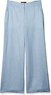 BCBGMAXAZRIA 女士亚麻条纹水手裤