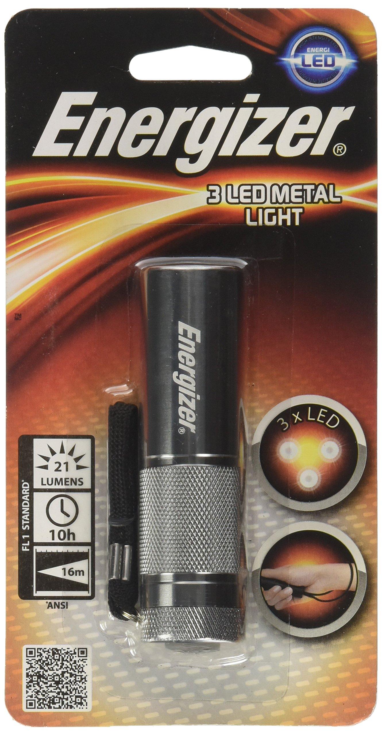 Energizer 手电筒 银 9.5 x 2.8 x 2.8 cm 638842