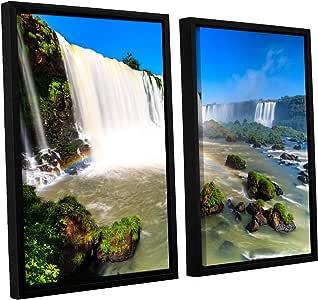 ArtWall 2-Piece Cody York's Iguassu Falls 3 Floater Framed Canvas Set, 24 by 36-Inch