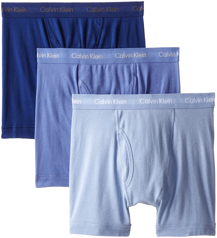 Calvin Klein 卡尔文·克莱恩 男士经典棉质平角内裤3条装