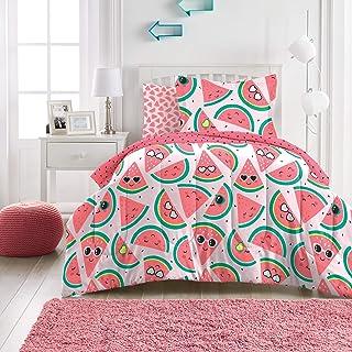 dream FACTORY 西瓜红超柔软超细纤维棉被套装,粉色 粉红色 全部 2D871802PK