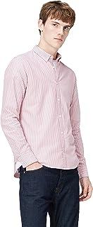 T 恤男式牛津条纹修身衬衫