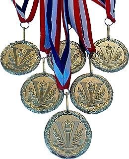Express Medals 金色 Victory Champion Winner Medal *杯带颈带(6 件装)