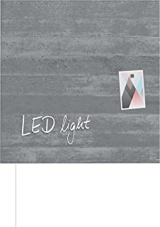 Sigel gl254优质玻璃 - 磁性黑板 artverum 天然 - 木质 , 木质外观 , 48 x 48厘米 – 其他 Designs mit LED Design Sichtbeton