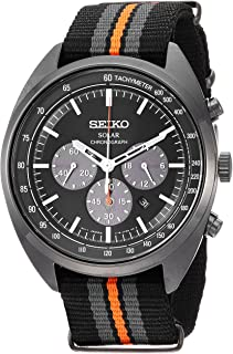 "Seiko 男士""RECRAFT 系列""石英不锈钢和尼龙礼服手表,颜色:黑色(型号:SSC669)"