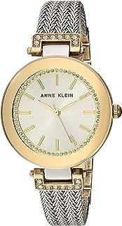 Anne Klein 女士 网眼手链手表 施华洛世奇水晶点缀