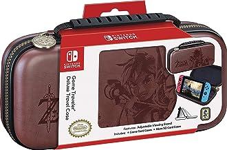 RDS Industries Nintendo Switch Deluxe Zelda Link 旅行包,高级硬壳,带有 Koskin 马鞍皮革压花的塞尔达野性艺术 2 游戏包 - Nintendo Switch