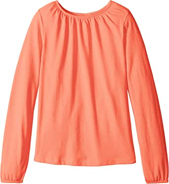 Scout + Ro Girls' Long Sleeve Shirred Neck Knit Top