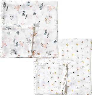 10mois Hoppetta SWADDLE bamboo 襁褓包巾 2件套 松鼠/蘑菇 20111008 0个月起