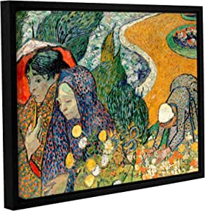 ArtWall Vincent Vangogh's Memory of The Garden at Etten, Ladies of Arles Gallery Wrapped Floater Framed Canvas Artwork, 24 by 32-Inch