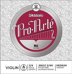 D'Addario 达达里奥 Pro-Arte 单根中等张力 3/4 小提琴 A 弦 J5602 3/4M