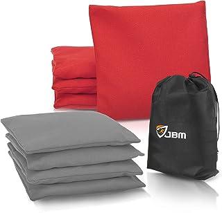 JBM 沙包(8 个装)耐候沙包带可回收塑料颗粒,用于投掷玉孔游戏-含免费携带包