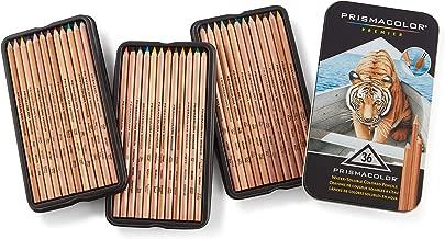 Prismacolor 三福霹靂馬 36色水溶彩鉛套裝 彩色鉛筆 干濕兩用 原木筆桿 硬質芯材
