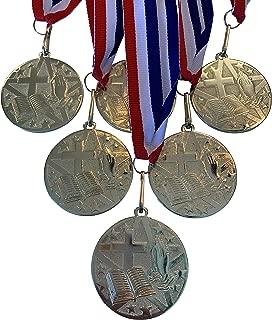 Express Medals 金色宗教宗教*章*杯带颈带(6 件装)