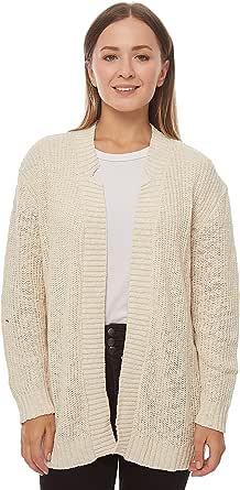 Knit Minded 女式针织前开襟羊毛衫 象牙色 Small