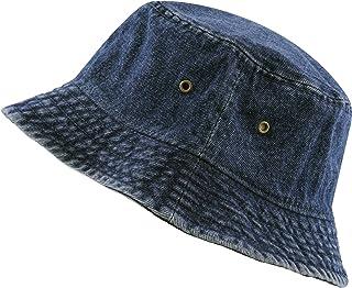 The Hat Depot 高品質水洗棉牛仔漁夫帽