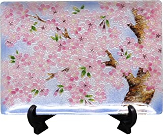 彩光舍 摆件 - 15×21cm 彩光舍 七宝烧 装饰盘 57樱花 104-06