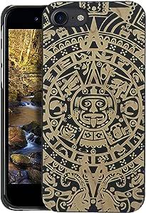 木质 iPhone 手机壳 - iPhone 7 / 木质 iPhone 7 手机壳 - WDPKR 木质手机套 - 独特的高对比度黑色涂漆木保险杠配件i7turtle Aztec 日历