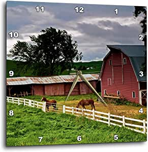 3dRose dpp_95827_1 Barn, Farm Country, Palouse, Colfax, Washington-Us48 Jre0005-Joe Restuccia Iii-Wall Clock, 10 by 10-Inch