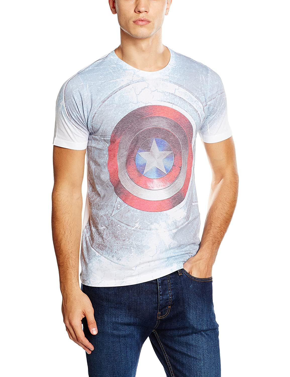 Captain America Civil War Shield Mens Sublimation TS: