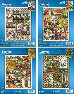 Janlynn Seasons Montage 数十字绣套件 - 4 件产品:春、夏、秋、冬